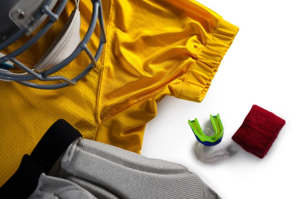 protecteur buccal et autres équipements sportifs